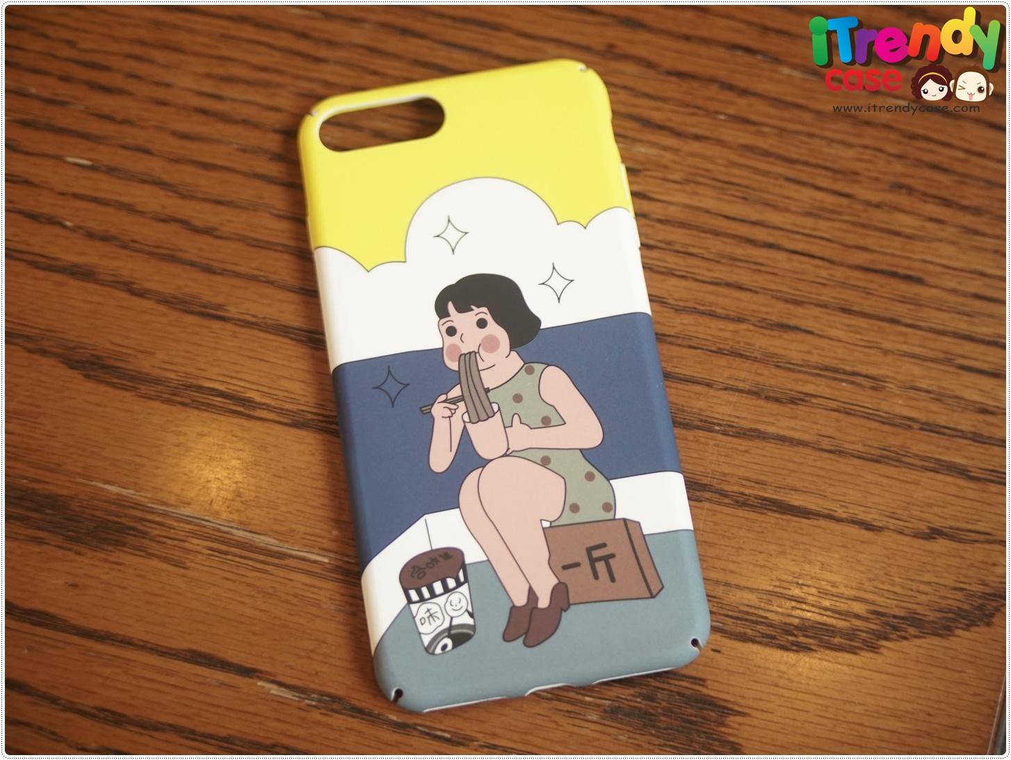iPhone 7 Plus - เคสแข็งปิดขอบ ลายผู้หญิงญี่ปุ่น