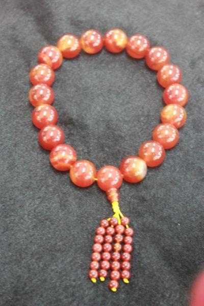 ประคำมือเรดอาเกต ( Maia Necklace Red agate )