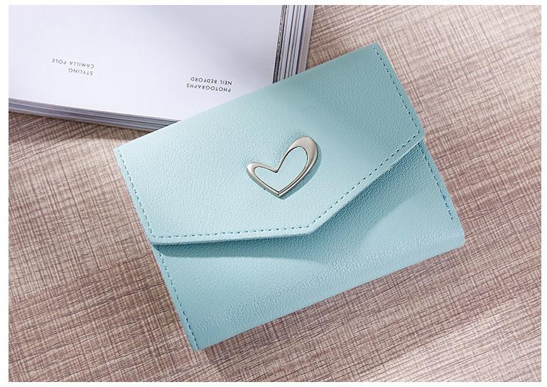 P102 กระเป๋าตังค์ Pastel Love สั้น สีเขียว