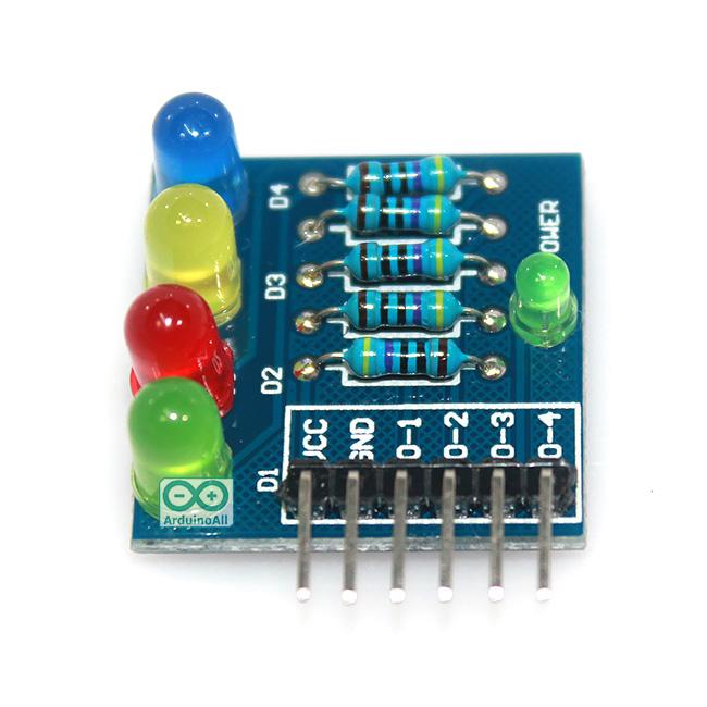 โมดูล LED 4 โมดูลทดลอง LED 4 ดวง 4 สี สำหรับ Arduino