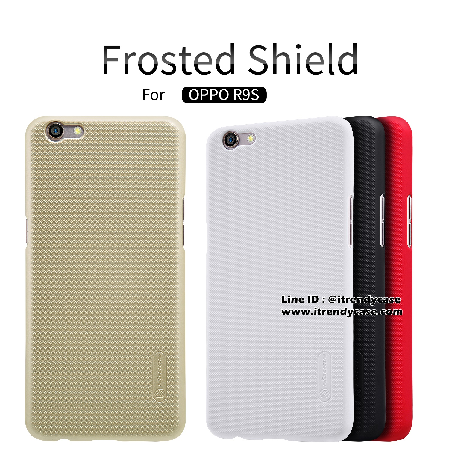 OPPO R9s - เคสหลัง Nillkin Super Frosted Shield แท้