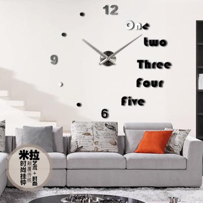 นาฬิกาDIY ขนาดจัมโบ้90cm สีดำ big5A