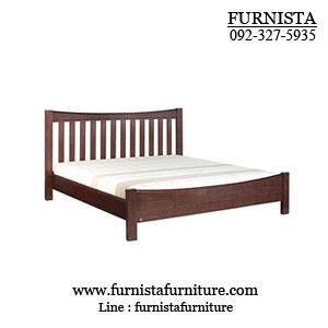 เตียงนอนไม้ 6 ฟุต ดีไซน์หรู มีระดับ สำหรับคอนโด โรงแรม (R-SERIES)