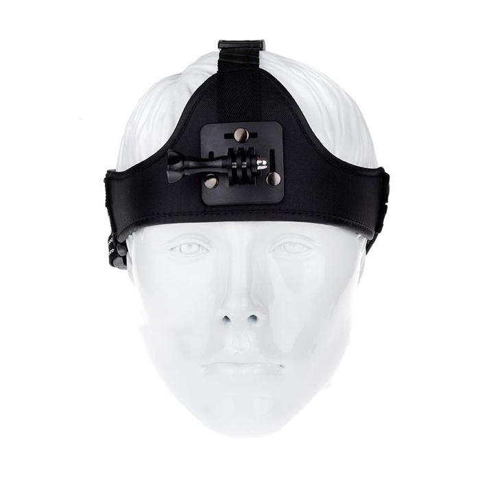 GoPro ขนาดเล็กหมวกกันน๊อดคาดหัวรอบด้าน-สีดำ