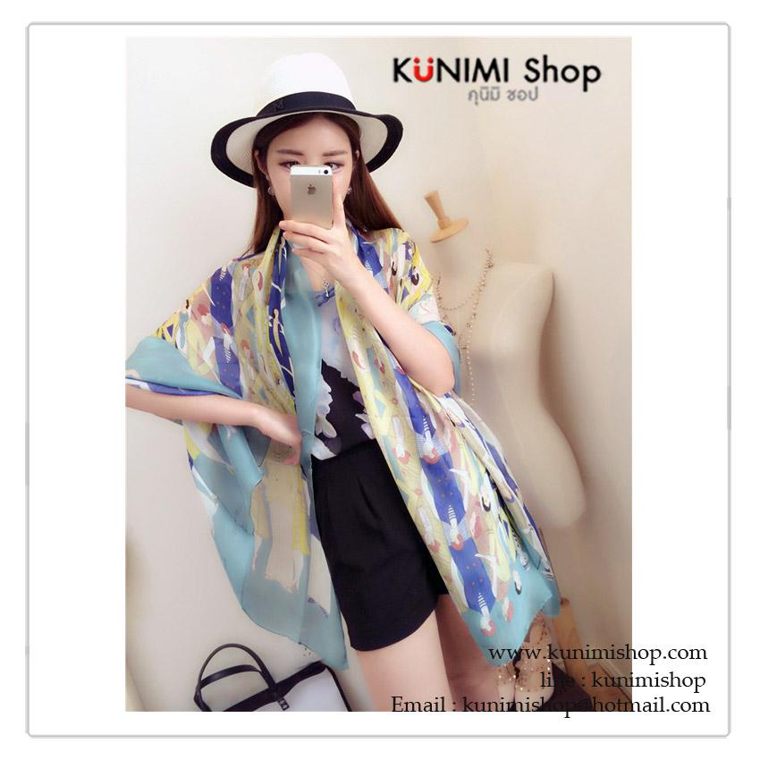 ผ้าพันคอ แฟชั่น ลายสวยเก๋ แบบบาง สามารถใช้พันคอ คลุมไหล่ สวยดูดี สีเขียว ใช้ได้ทุกโอกาส ขนาด : ยาว 180 กว้าง 90 cm. ผ้า : ไหม