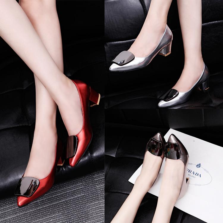 รองเท้า ส้นสูง แฟชั่น เกาหลี Dark mirror J001