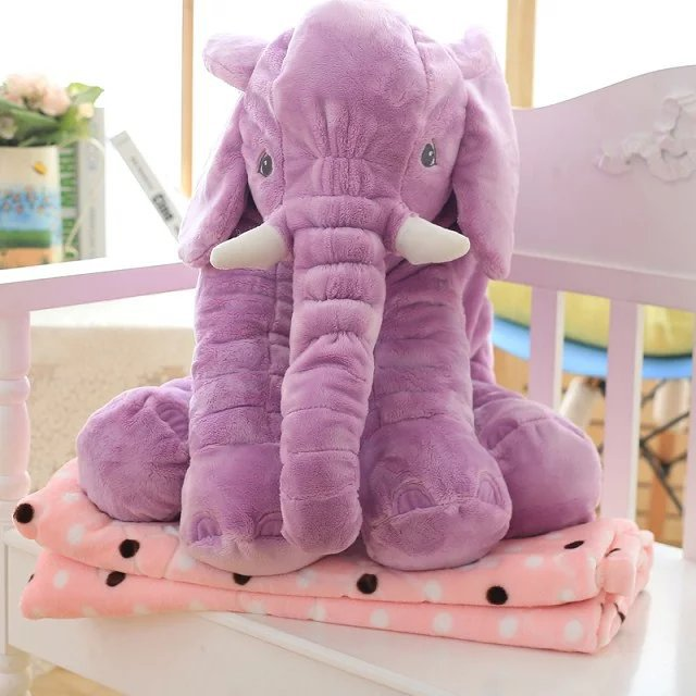 หมอนผ้าห่ม ช้างอิเกีย ขนาดตัวตุ๊กตาช้าง นุ่มนิ่ม ขนไม่หลุด ซักได้ ขนาดใหญ่