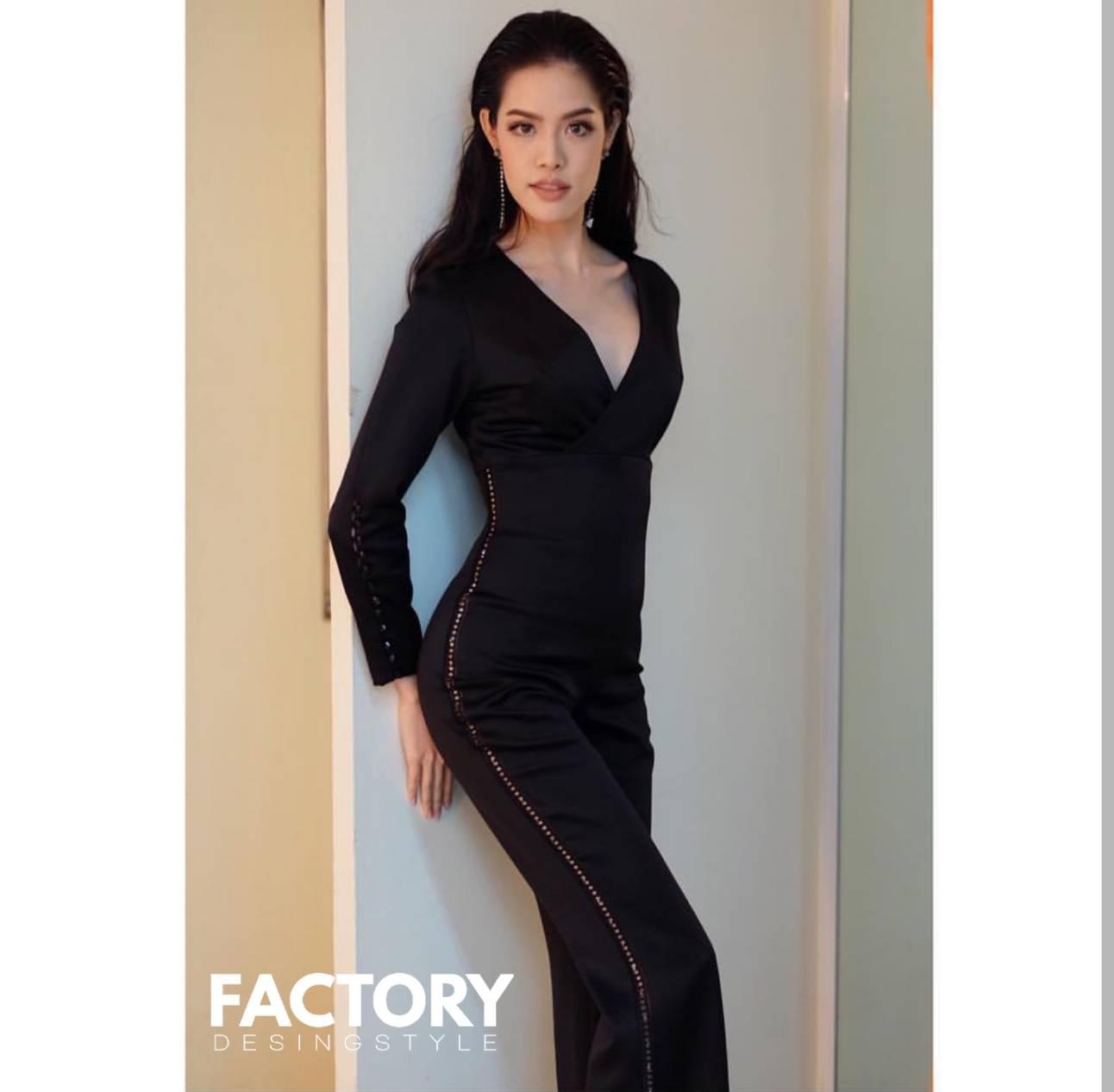 เสื้อผ้าเกาหลี พร้อมส่ง จั้มสูท ผ้าดีมากค่า