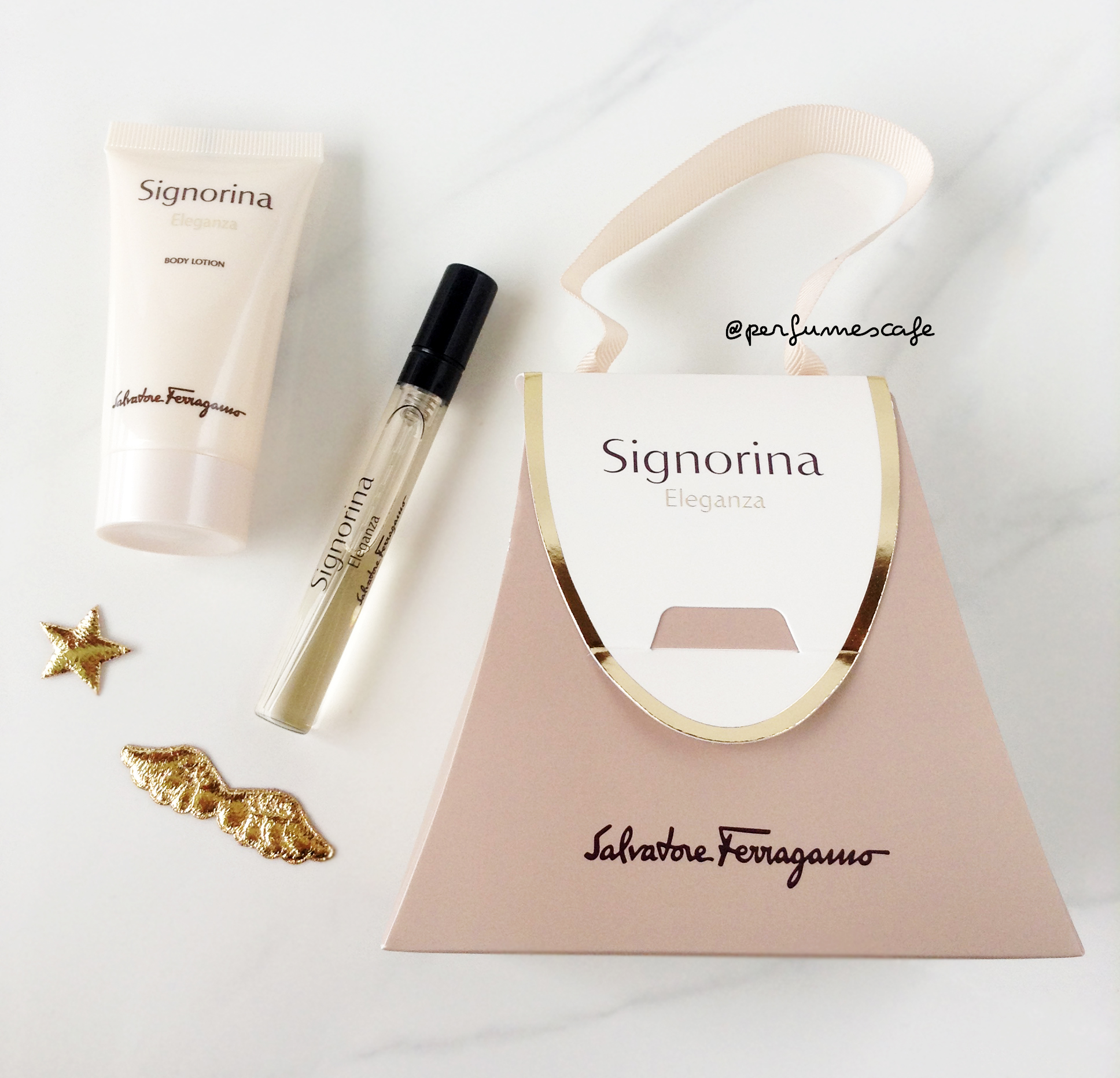 เซ็ตน้ำหอม Salvatore Ferragamo Signorina Eleganza Miniature Perfume + Body Lotion