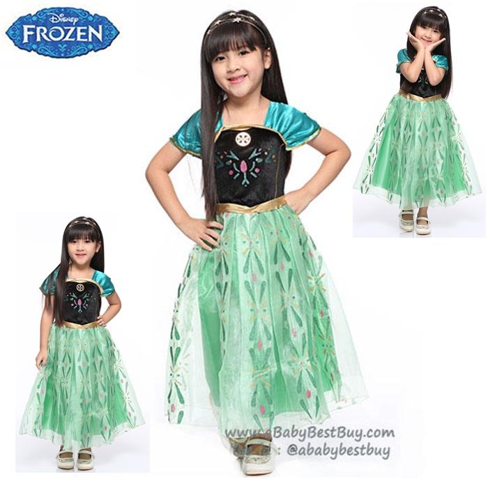 """"""" ชุดเดรส ชุดแฟนซี เจ้าหญิงอันนา Frozen ชุดแฟนซีเจ้าหญิง ชุดงานเต้นรำฉลองขึ้นครองราชเจ้าหญิงเอลซ่า ผ้าดี ใส่สบาย (สำหรับเด็กอายุ 2-10 ปี)"""