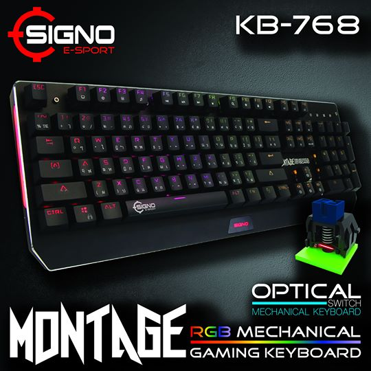 SIGNO E-Sport KB-768 MONTAGE Optical Switch RGB