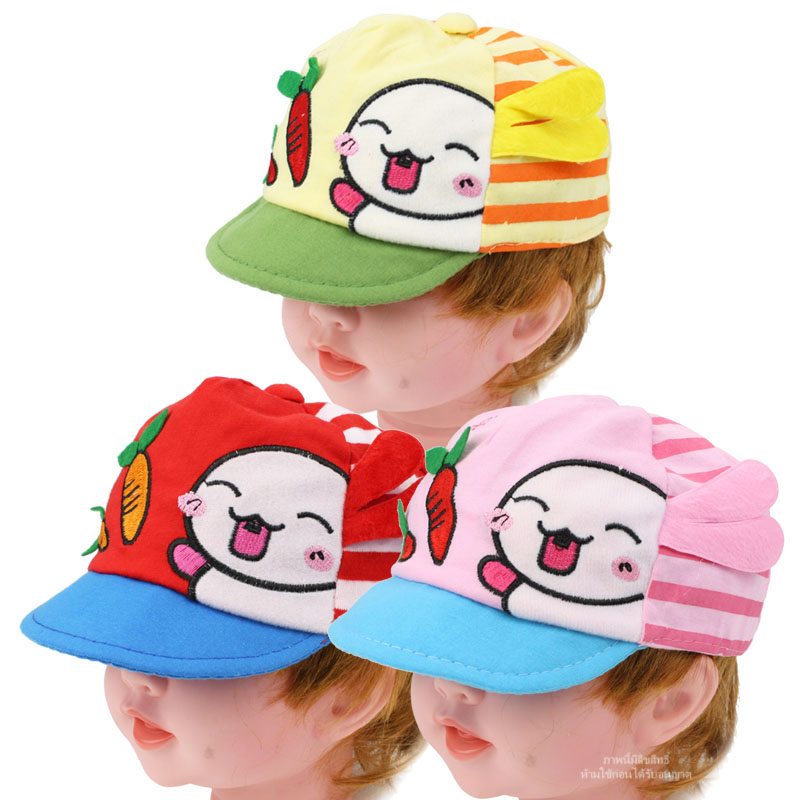 หมวกแก๊ปเด็กลายกระต่ายกินแครอท