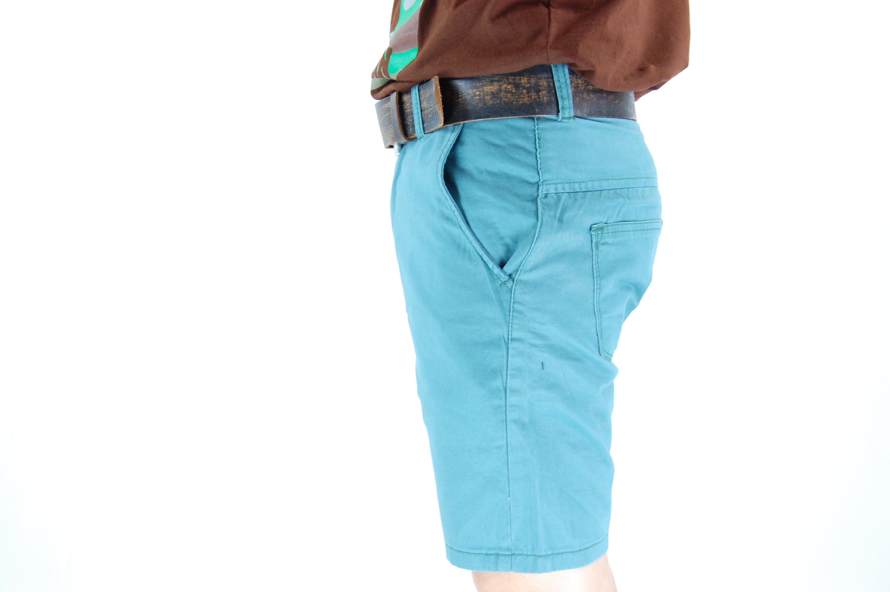 กางเกงขาสั้น สีฟ้ามน 29-6--6