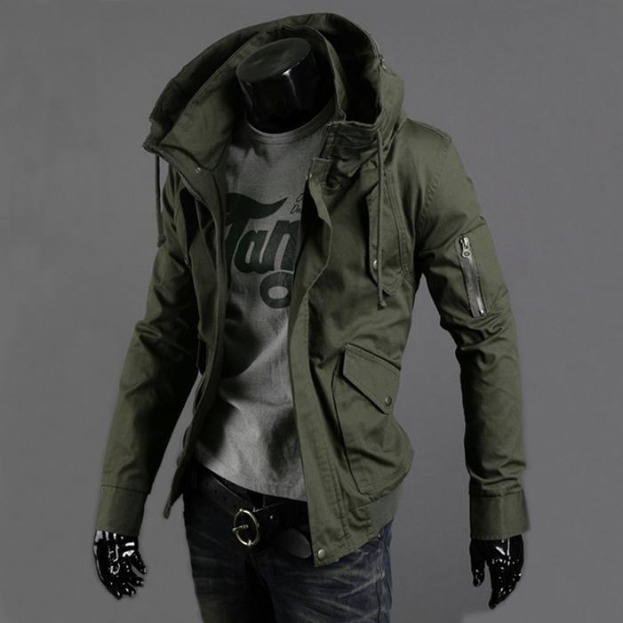 Pre Order เสื้อแจ็คเก็ตผู้ชายมาดเซอร์ แขนยาวคอตั้ง แฟชั่นทันสมัย มี2สี