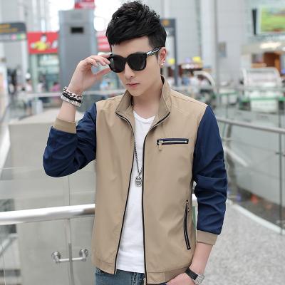 Pre Order เสื้อแจ็คเก็ตแฟชั่นเกาหลี แขนยาว คอปก แต่งกระเป๋าซิป ดีไซน์เท่ห์ มี 5 สี