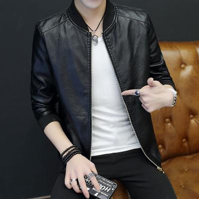 Pre Order เสื้อหนังแจ็คเก็ตแฟชั่นเกาหลี แนวเบสบอล แขนยาว มี 4 สี