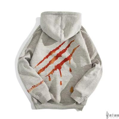 เสื้อฮู้ดแขนยาวเกาหลี แต่งลายกรงเล็บ เท่มาก มี2สี