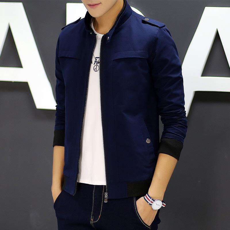 Pre Order เสื้อแจ็คเก็ตแฟชั่นเกาหลี ผู้ชายแขนยาว มี 6 สี
