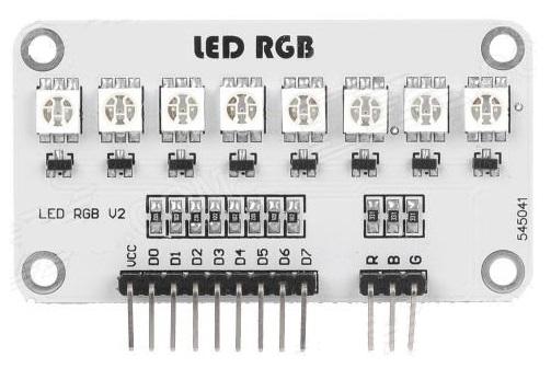 5050 RGB Full Color RGB 8 LED Module for Arduino