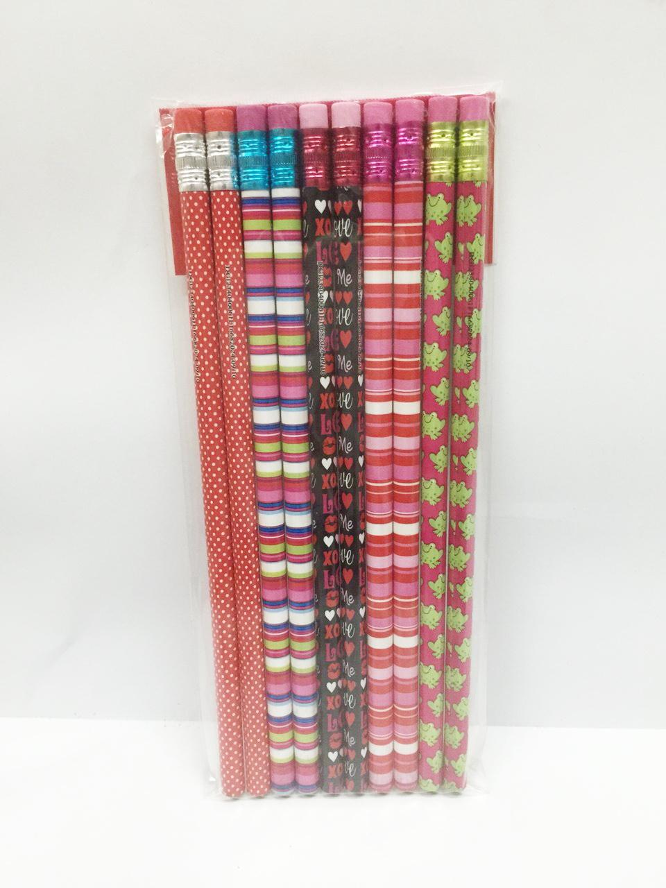 ดินสอไม้แฟนซี เกรดดี (ขายส่ง 12 แพ็ค=120 แท่ง)