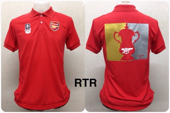 เสื้อโปโล อาร์เซนอล ลาย แชมป์ FA Cup สีแดง RTR