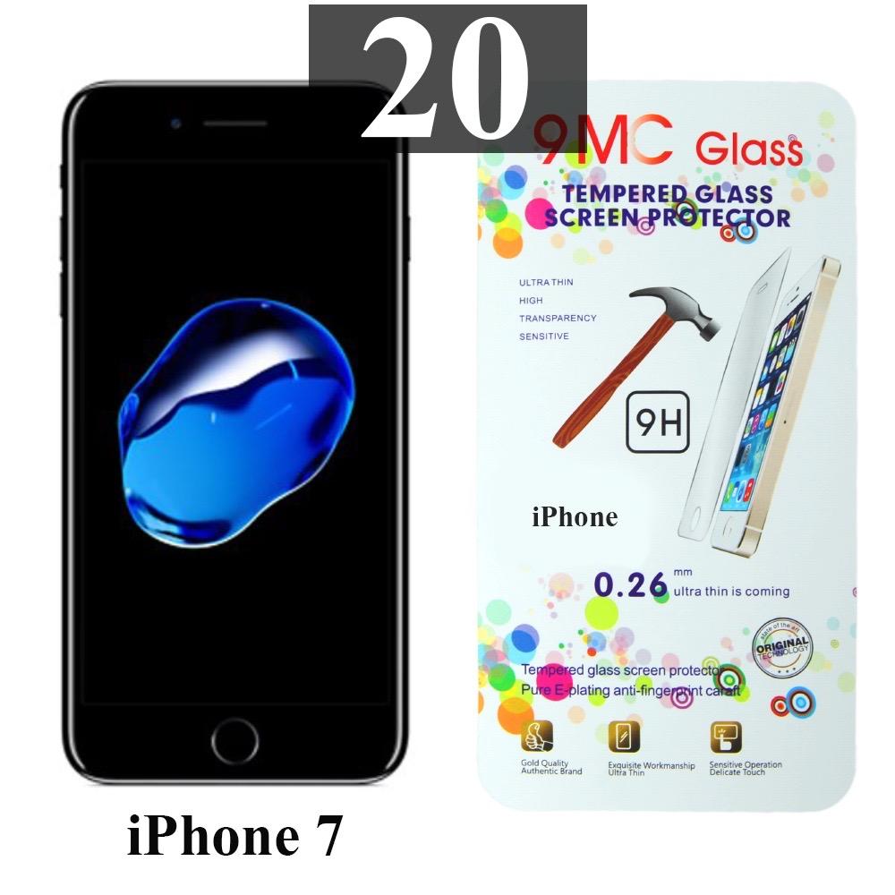 ฟิล์มกระจก iPhone 7 9MC แผ่นละ 30 บาท (แพ็ค 20)