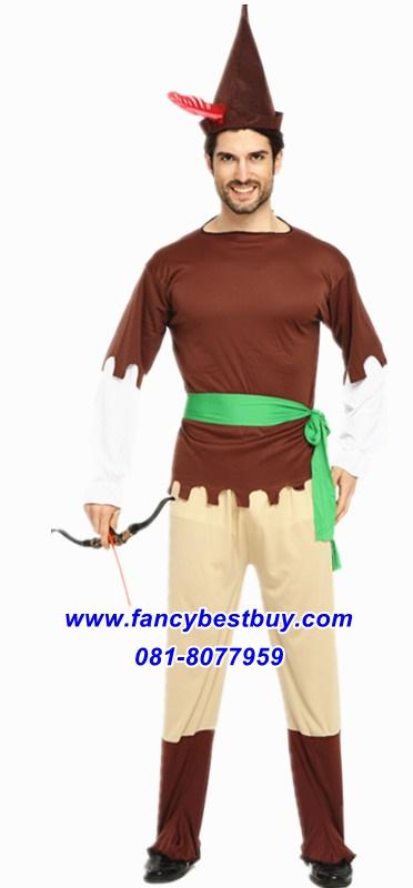 ชุดแฟนซีผู้ใหญ่ ปีเตอร์แพน Peter Pan มีขนาดฟรีไซด์ สำหรับ 170-185 ซม
