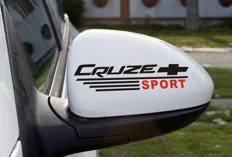 สติ๊กเกอร์ติดกระจกมองข้างรถ Cruze Sport (1Pack/2ชิ้น) สีดำ