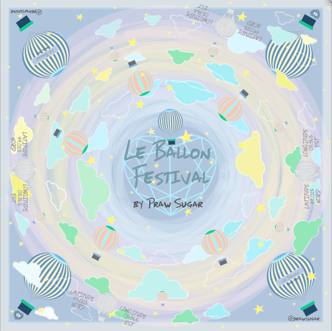 Le Ballon Festival Scarf - Grey