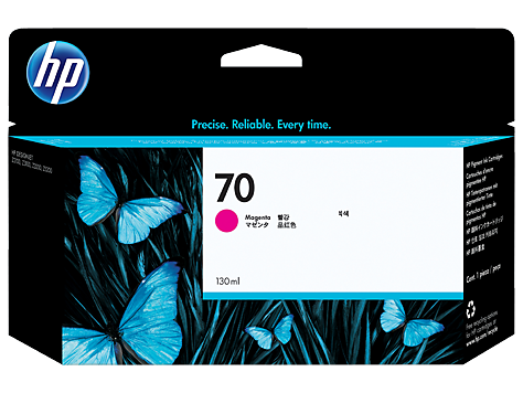 HP 70 130-ml Magenta DesignJet Ink Cartridge (C9453A)
