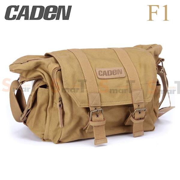 กระเป๋ากล้อง Caden F1 Canvas Shoulder Camera Bag สีกากี (Khaki)