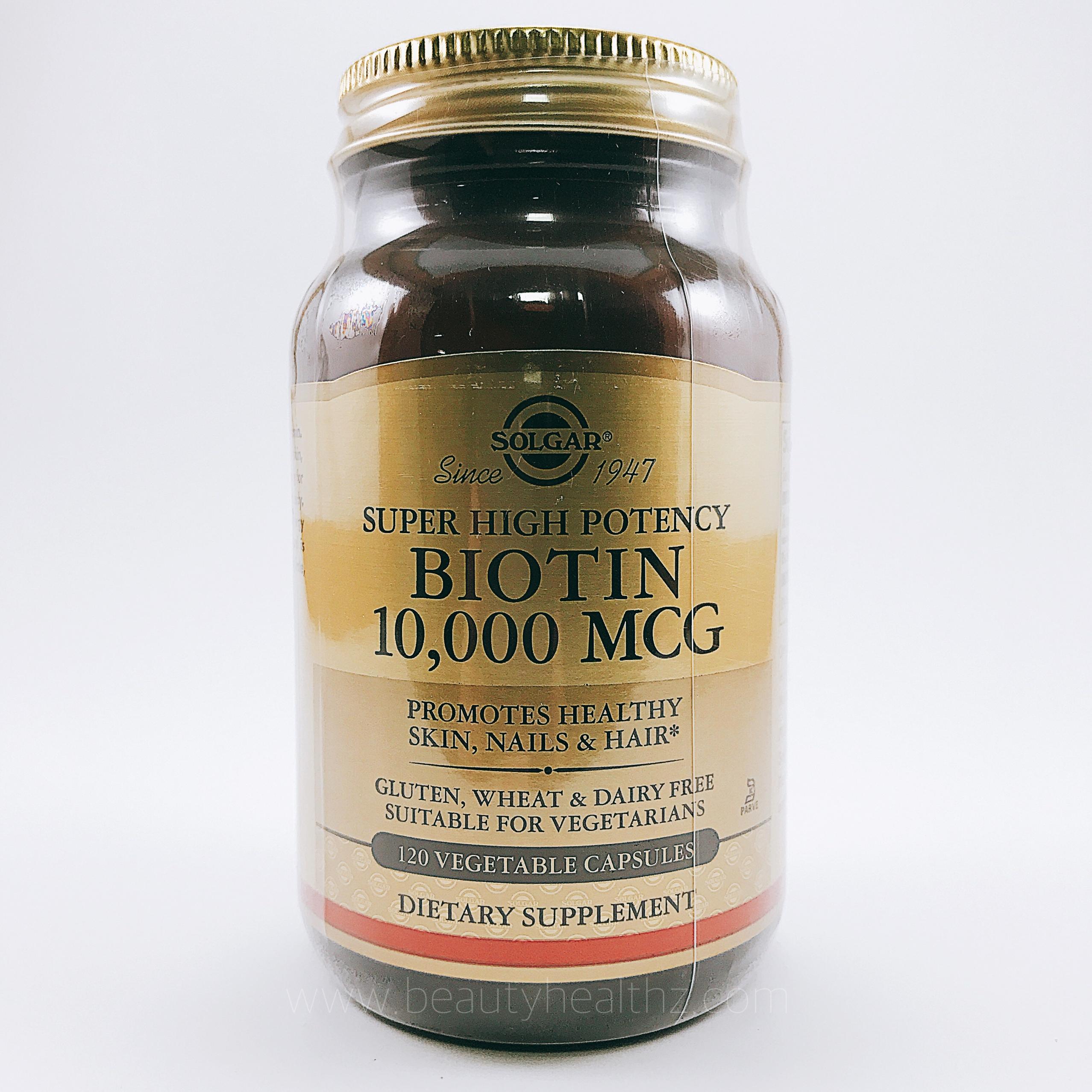 Solgar, Biotin, Super High Potency, 10,000 mcg, 120 Veggie Caps