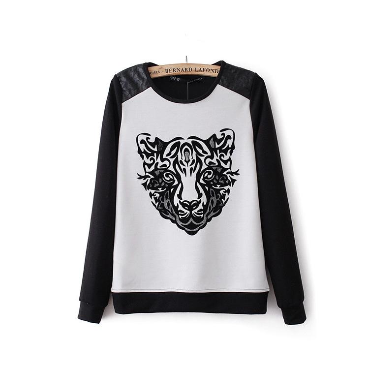 เสื้อพิมพ์ลายเสือ ขาวดำ