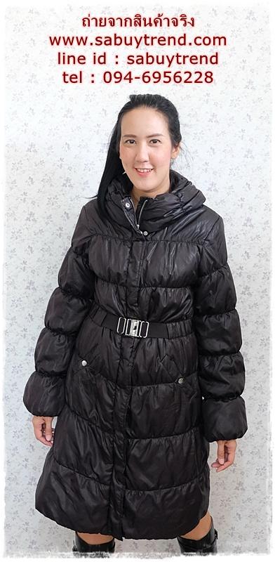 ca-2739 เสื้อโค้ทกันหนาวสีดำ รอบอก40