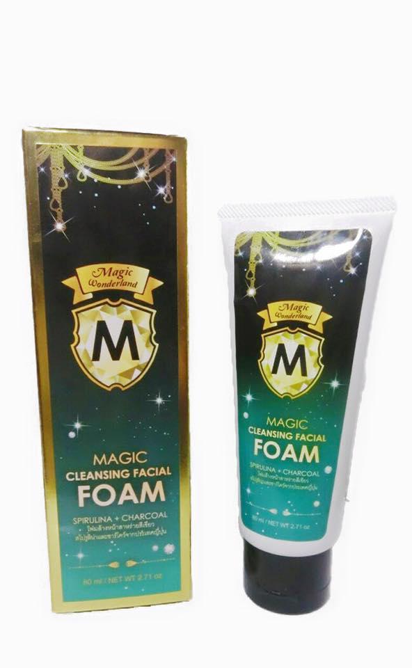 Magic Cleansing Facial Foam by Magic Wonderland 80 ml. เมจิค เคลนซิ่ง เฟเชียล โฟม โฟมล้างหน้า สาหร่าย + ชาร์โคล